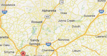 North metor Atlanta Map
